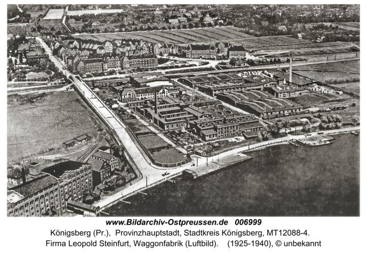 Königsberg, Firma Leopold Steinfurt, Waggonfabrik