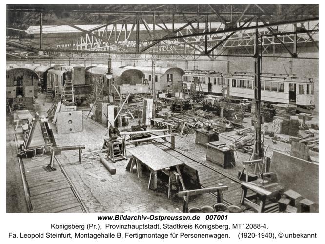 Königsberg, Fa. Leopold Steinfurt, Montagehalle