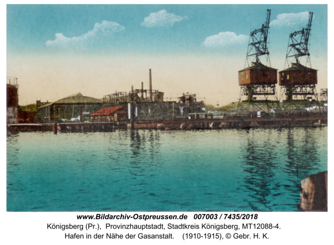 Königsberg, Hafen in der Nähe der Gasanstalt
