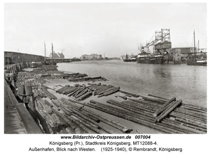 Königsberg, Außenhafen, Blick nach Westen