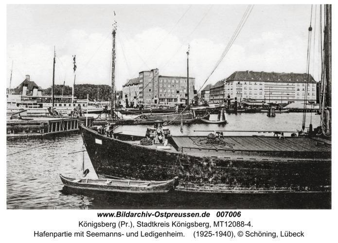 Königsberg, Hafenpartie mit Seemanns- und Ledigenheim
