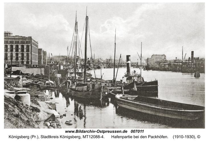 Königsberg, Hafenpartie bei den Packhöfen