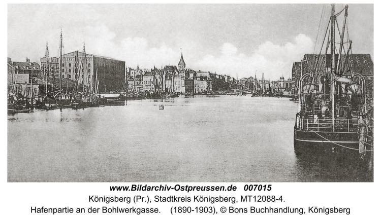 Königsberg, Hafenpartie an der Bohlwerkgasse