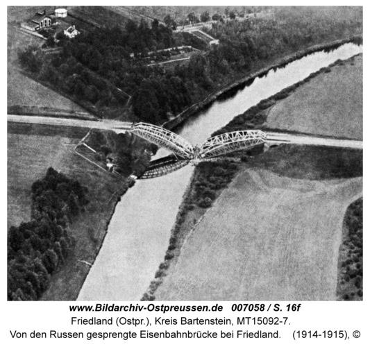 Friedland, Von den Russen gesprengte Eisenbahnbrücke bei Friedland