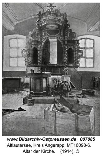 Altlautersee fr. Szabienen, Altar der Kirche