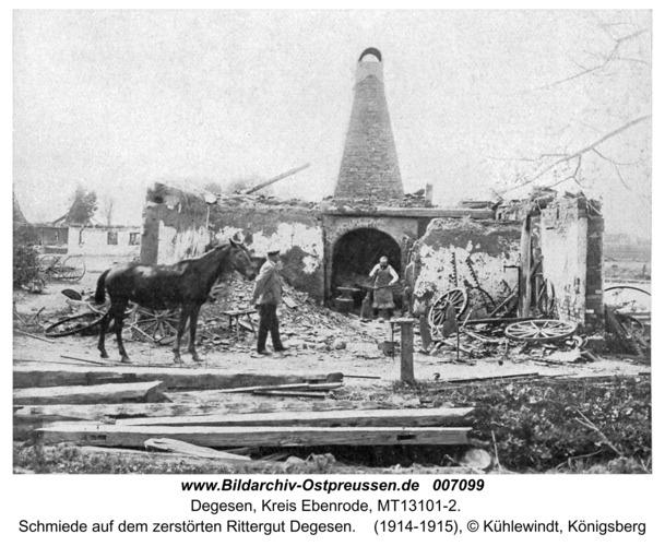 Eichrode (fr. Degesen), Schmiede auf dem zerstörten Rittergut Degesen