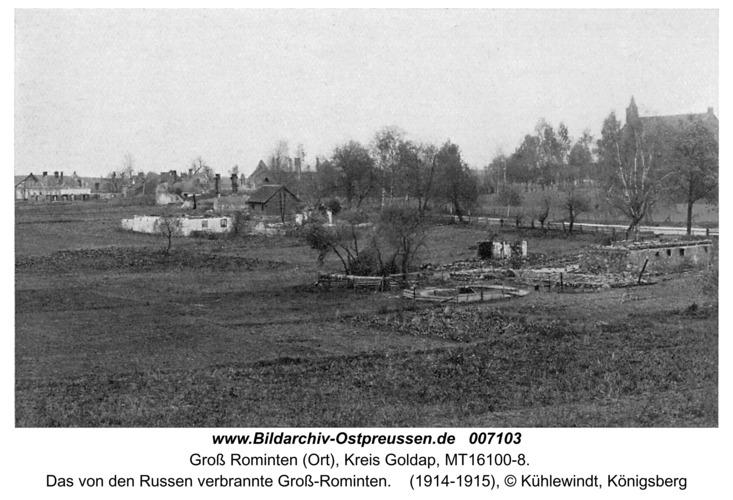 Hardteck (Groß-Rominten), Das von den Russen verbrannte Groß-Rominten