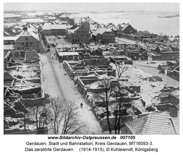 Gerdauen, Das zerstörte Gerdauen
