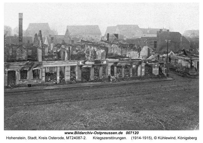 Hohenstein Kr. Osterode, Kriegszerstörungen