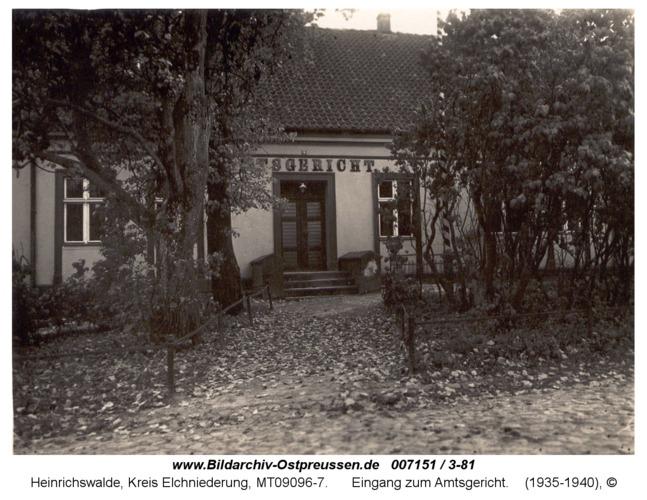 Heinrichswalde, Eingang zum Amtsgericht
