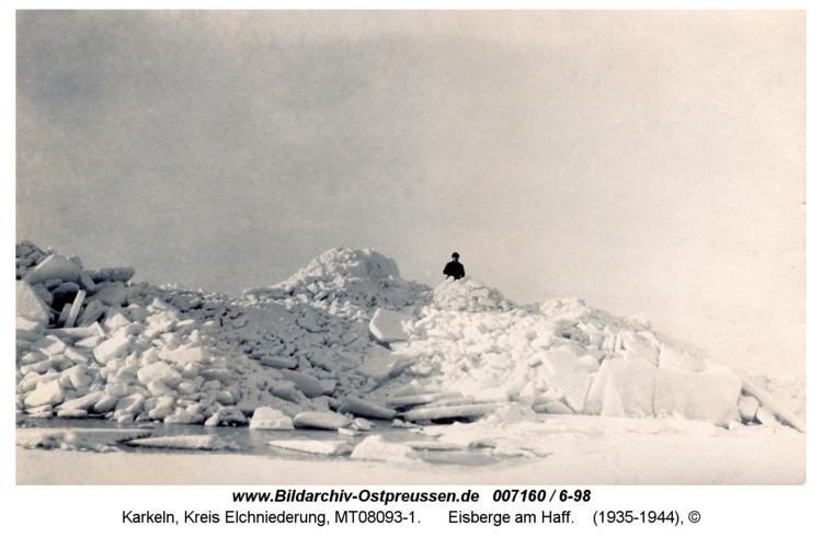 Karkeln, Eisberge am Haff