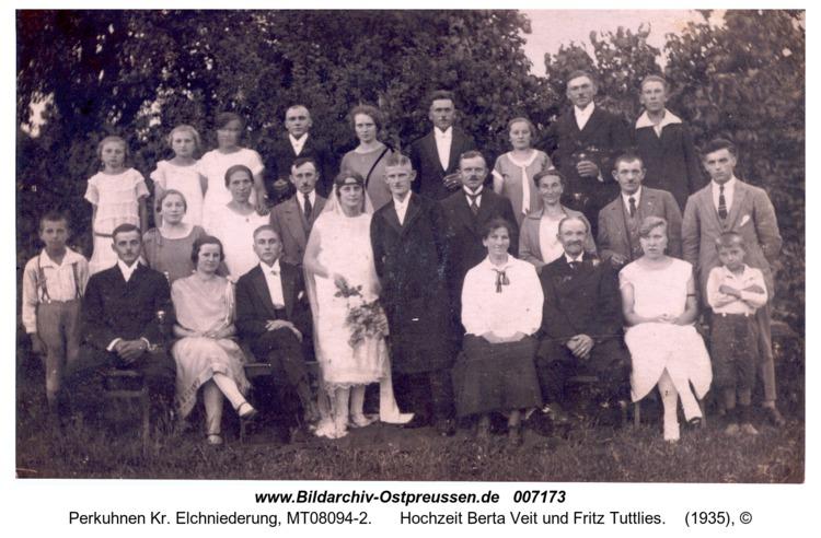 Perkuhnen, Hochzeit Berta Veit und Fritz Tuttlies