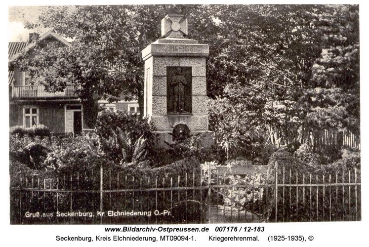 Seckenburg, Kriegerehrenmal