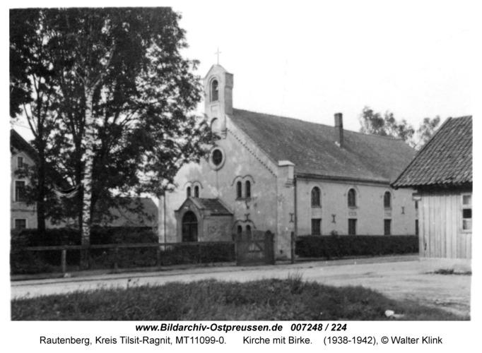 Rautenberg, Kirche mit Birke