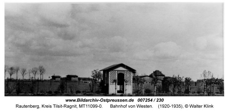 Rautenberg, Bahnhof von Westen