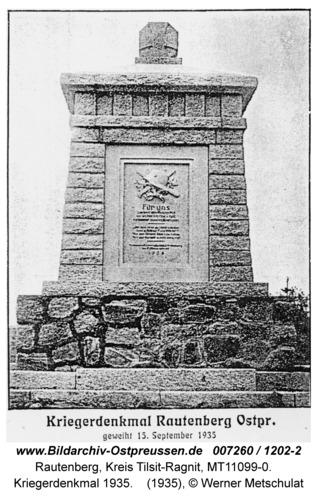 Rautenberg, Kriegerdenkmal 1935