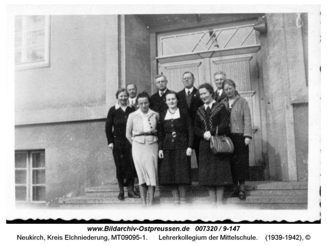 Neukirch, Lehrerkollegium der Mittelschule
