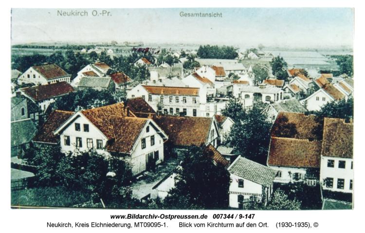 Neukirch 18, Blick vom Kirchturm auf den Ort