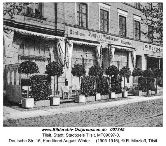Tilsit, Deutsche Str. 16, Konditorei August Winter