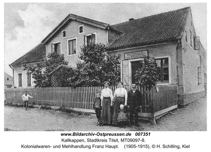 Kallkappen, Kolonialwaren- und Mehlhandlung Franz Haupt