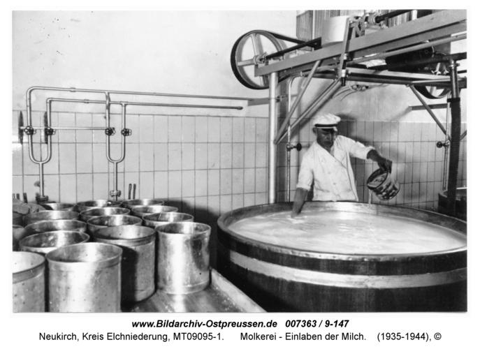 Neukirch 221, Molkerei - Einlaben der Milch