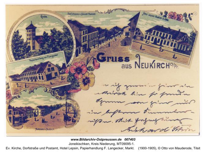 Neukirch 1, alte AK mit diversen Motiven
