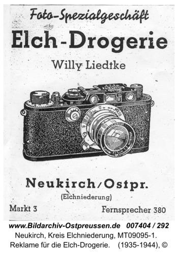 Neukirch, Reklame für die Elch-Drogerie