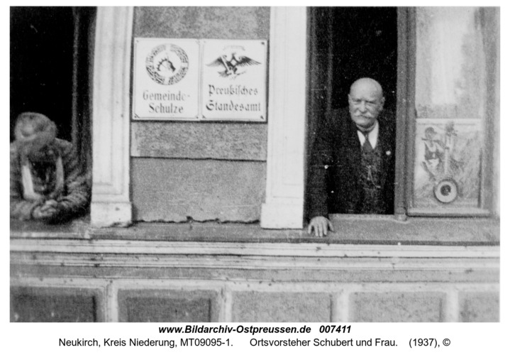Neukirch, Ort, Ortsvorsteher Schubert und Frau