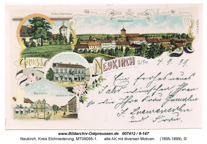 Neukirch 2, alte AK mit diversen Motiven
