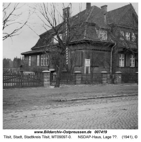 Tilsit, NSDAP-Haus, Lage ??