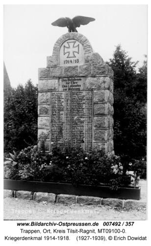 Trappen, Kriegerdenkmal 1914-1918