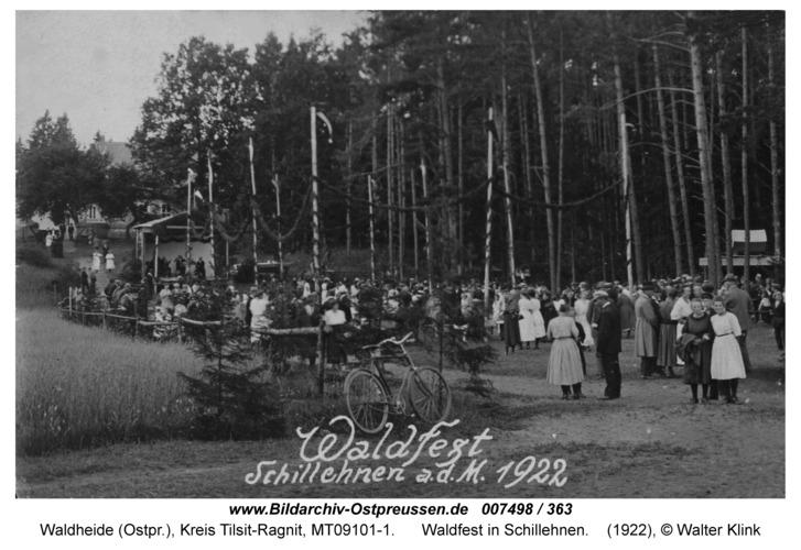 Waldheide, Waldfest in Schillehnen