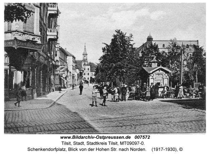 Tilsit, Schenkendorfplatz, Blick von der Hohen Str. nach Norden