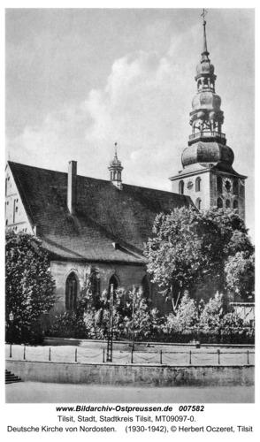 Tilsit, Deutsche Kirche von Nordosten