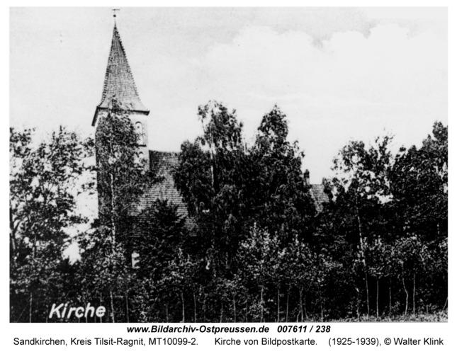 Sandkirchen, Kirche von Bildpostkarte