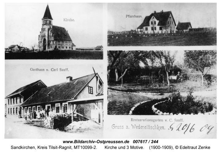 Sandkirchen, Kirche und 3 Motive