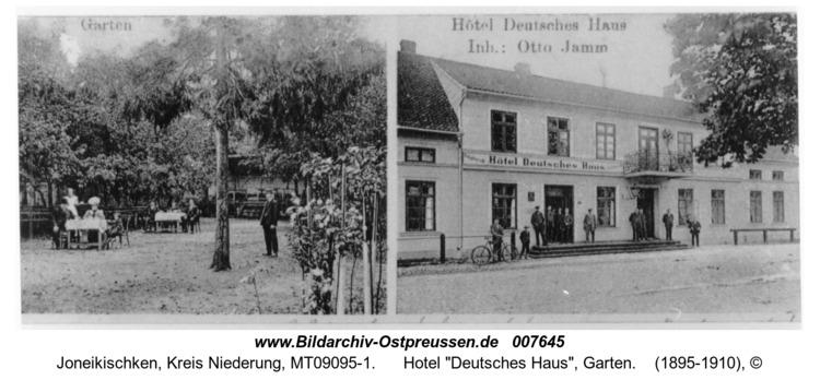 """Neukirch , Hotel """"Deutsches Haus"""", Garten"""