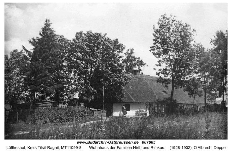 Löffkeshof, Wohnhaus der Familien Hirth und Rimkus