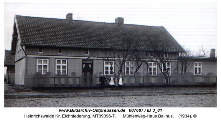 Heinrichswalde, Mühlenweg-Haus Ballnus
