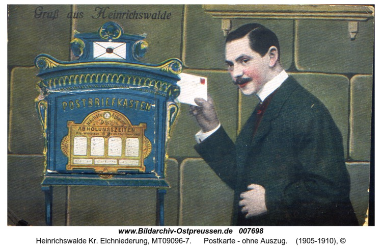 Heinrichswalde, Postkarte - ohne Auszug