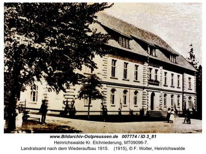 Heinrichswalde, Landratsamt nach dem Wiederaufbau 1915