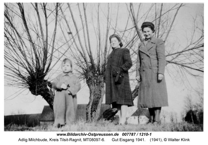 Adlig Milchbude, Gut Eisgang 1941