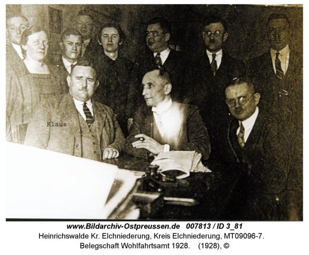 Heinrichswalde, Belegschaft Wohlfahrtsamt 1928