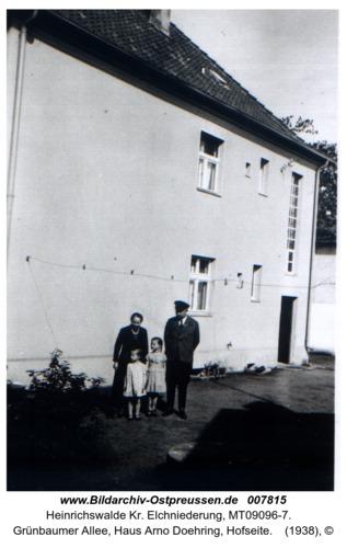 Heinrichswalde, Grünbaumer Allee, Haus Arno Doehring, Hofseite