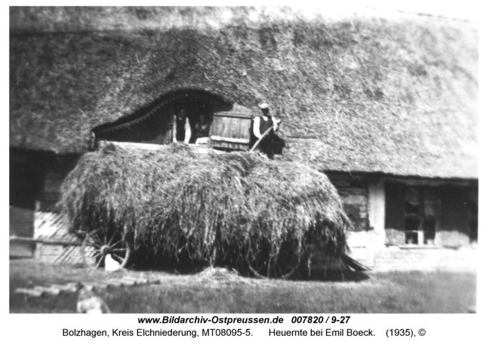 Bolzhagen, Heuernte bei Emil Boeck