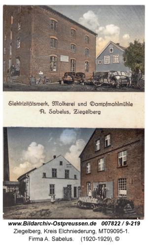 Ziegelberg ( 147-257 ), Firma A. Sabelus
