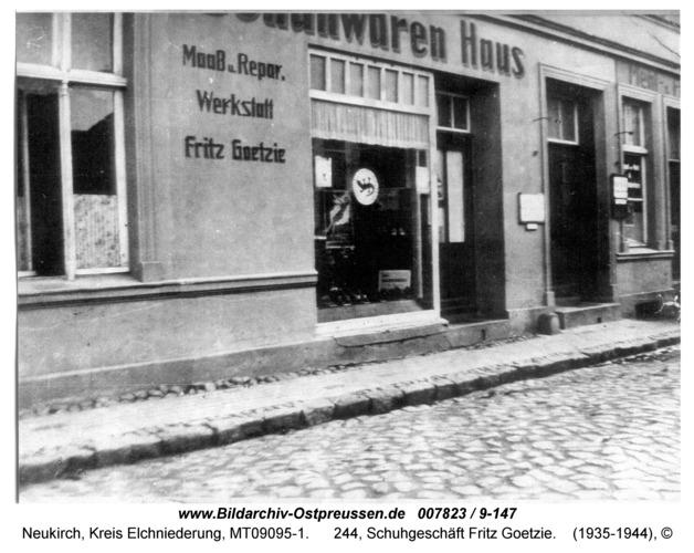 Neukirch, 244, Schuhgeschäft Fritz Goetzie