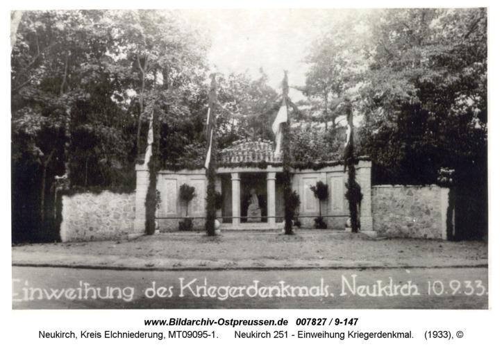 Neukirch 251 - Einweihung Kriegerdenkmal