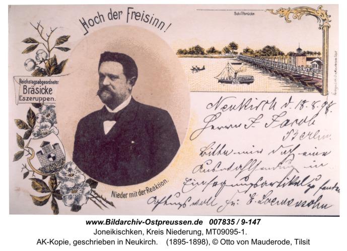 Neukirch 267, AK-Kopie, geschrieben in Neukirch