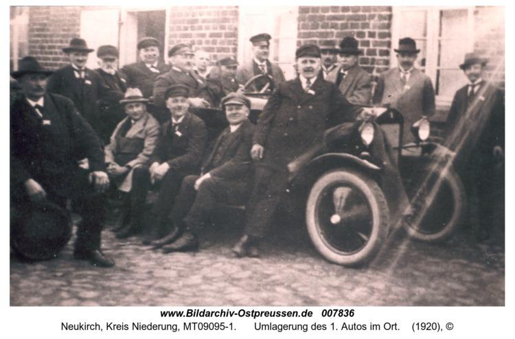 Neukirch, Umlagerung des 1. Autos im Ort